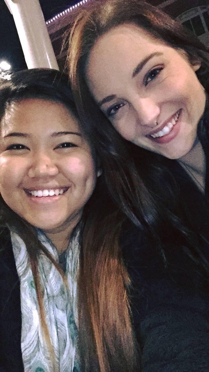 Rebecca and Kristel S.